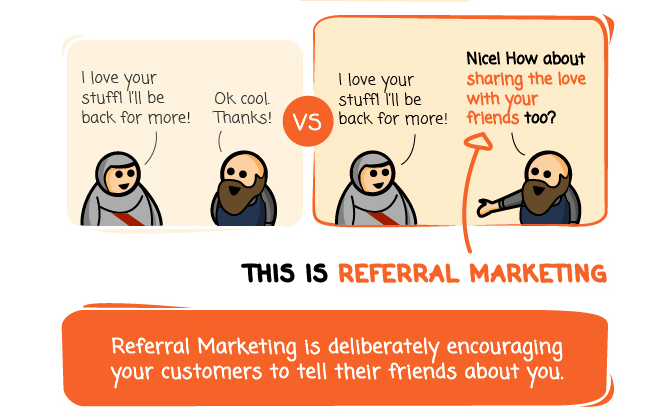 This is referral marketing