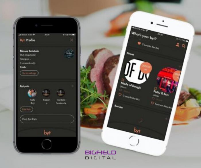 Byt mobile app for food delivery